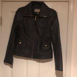 Black leather Michael Kors Jacket.